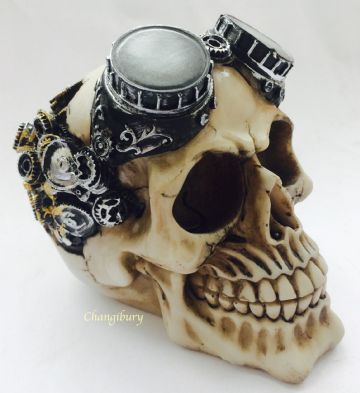 Gothic PUNK GOOGLES Skull Head Skeleton Horror Halloween SK248